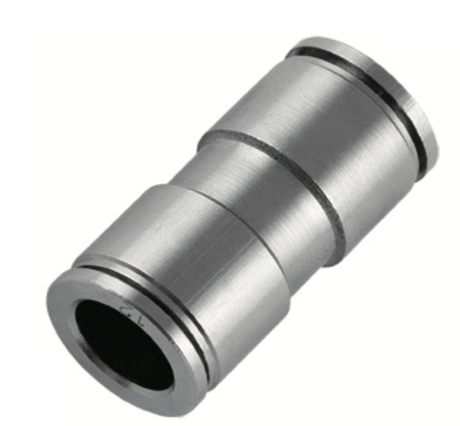 nickel plated union straight push in fitting