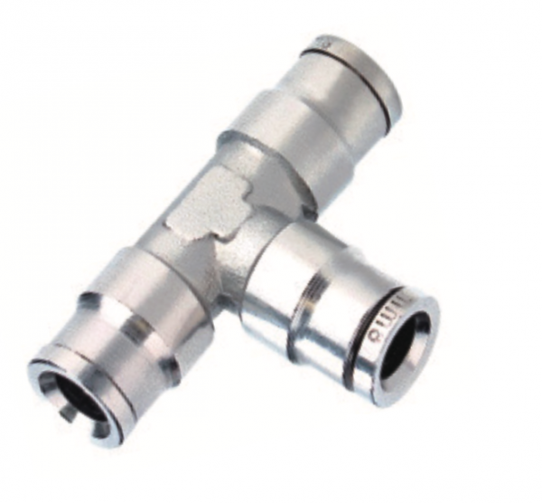 nickel plated union tee push in fitting