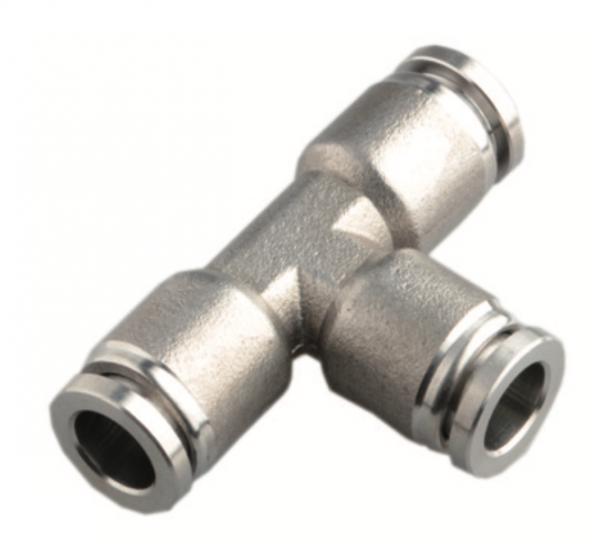 Stainless steel union tee push in fitting
