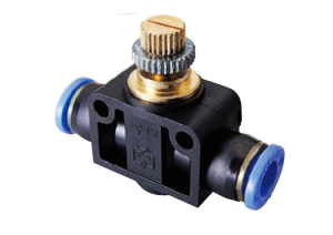 Speed controller union straight functional fitting