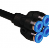 composite double reducer y plug in union push in fitting