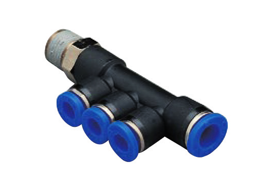 composite multiple connector push in fitting