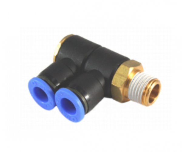 composite universal double rotating push in fitting