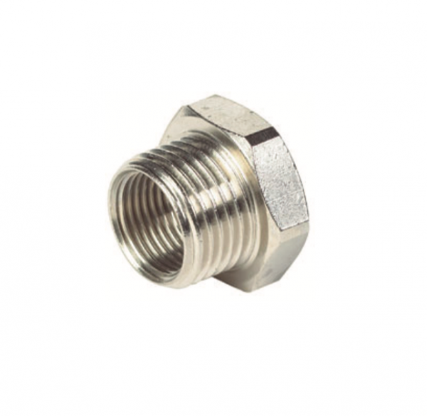 nickel plated brass male female reducing bush pipe fitting
