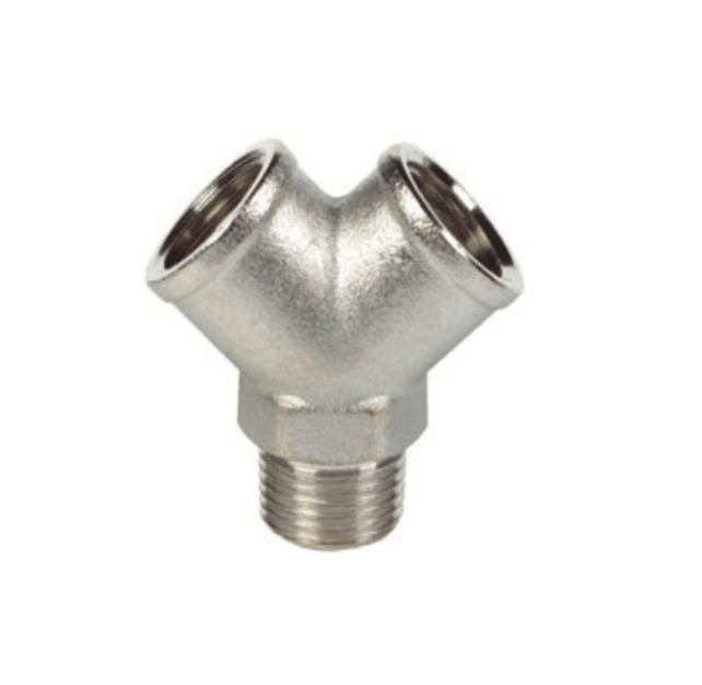 nickel plated female male tee pipe fitting
