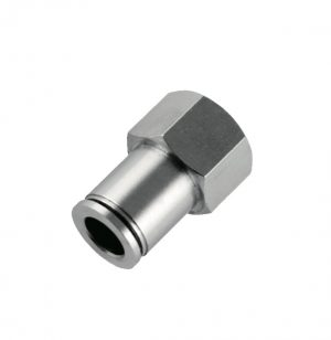nickel plated female straight g thread push in fitting