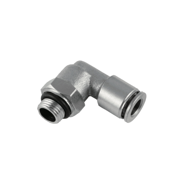 nickel plated male elbow G thread push in fitting