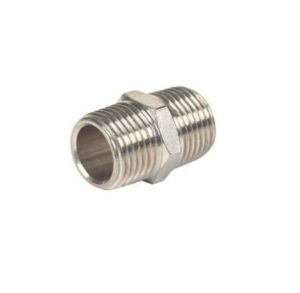 nickel plated male hex nipple pipe fitting