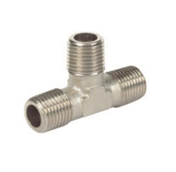 nickel plated male male tee pipe fitting