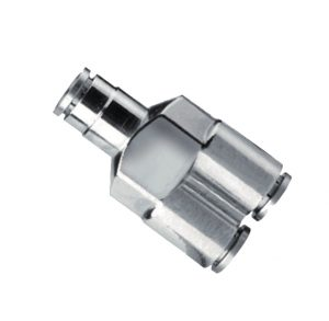 nickel plated union y push in fitting
