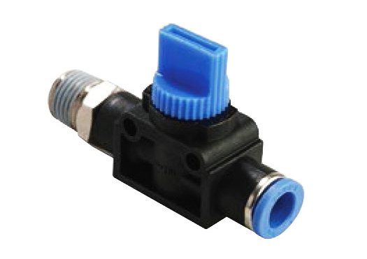 shut off valve straight male tube air in functional fitting
