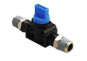 shut off valve straight thread to thread functional fitting