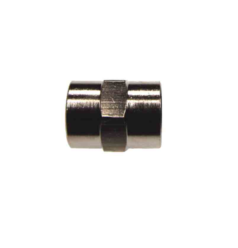 Nickel Plated Brass Thread-To-Thread Female Female Hex Socket – Pipe Fittings
