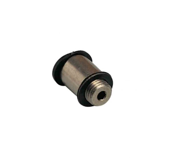 composite male straight round compact push in fitting