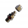 nickel plated male pu tube swivel connector pipe fitting