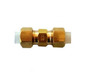 Brass straight union insert fitting tube pipe fitting